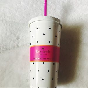 🆕 | 📰 Kate Spade Polka Dot Travel Tumbler